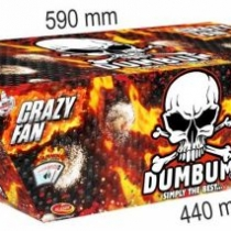 Dumbum Crazy Fan 135 rán / 20mm – šikmý